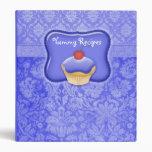 Recipe Photo Binder Perwinkle blue Cupcake