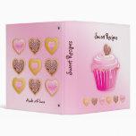 Recipe Photo Binder Pink Cupcake Heart