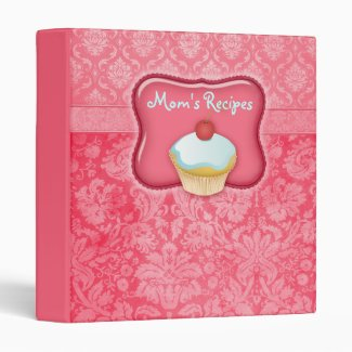 Recipe Photo Binder Salmon Red Cupcake