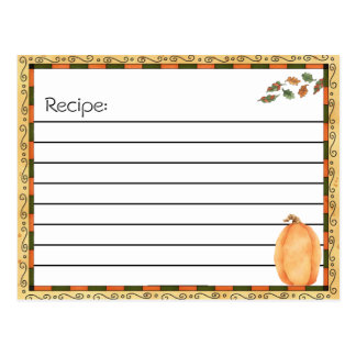 Recipe Post Cards