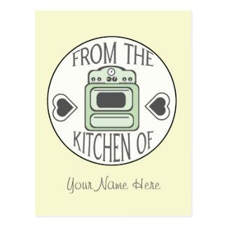 Recipe Postcard - Retro Green Stove