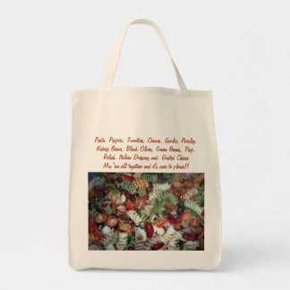 Recipe Salad Grocery Grocery Tote Bag