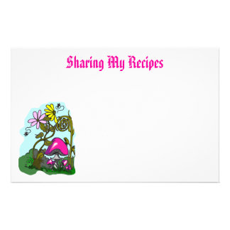 Recipe Sharing Stationary Customized Stationery