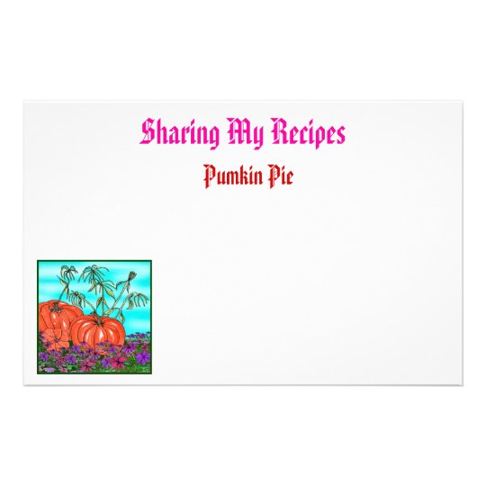 Recipe Sharing Stationary Stationery