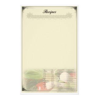 Recipe Stationery, Recipe Stationery Templates