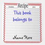 Recipe This Book Belongs To, Bookplate Sticker