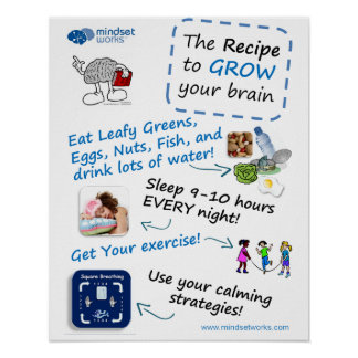 Recipe to Grow Your Brain poster for Brainology®
