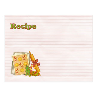 recipe tray of cookies postcard