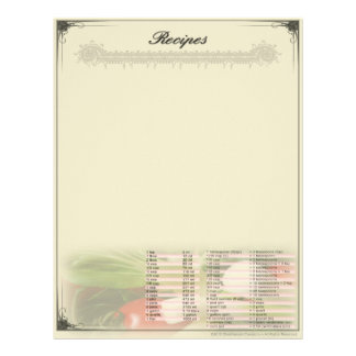 Recipe Unruled Letterhead w/ Conversions