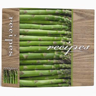recipes (asparagus) 3 ring binder