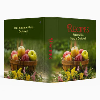 Recipes Binder - Apples 3 Ring Binders