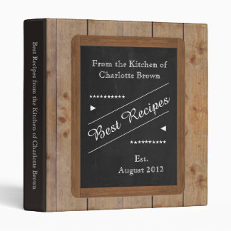 Recipes Binder with your Name on the Chalkboard