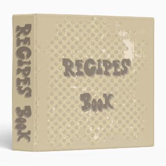 Recipes book vinyl binders