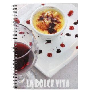 recipes book La Dolce Vitta Note Books