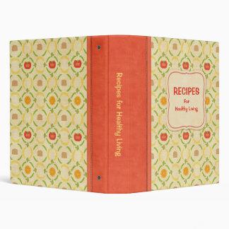Recipes for Healthy Living Cookbook Vinyl Binders