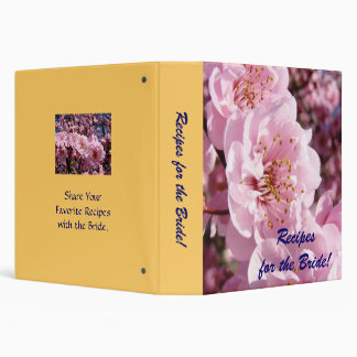 Recipes for the Bride binders Blossoms Weddings