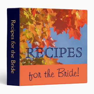 Recipes for the Bride! Wedding gifts Recipe binder