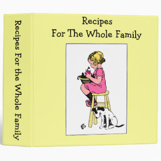 Recipes For The Whole Family Vinyl Binder