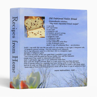 Recipes from Home Binder