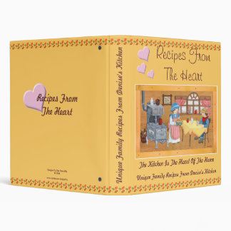 "Recipes From The Heart 1"" Recipe Binder"