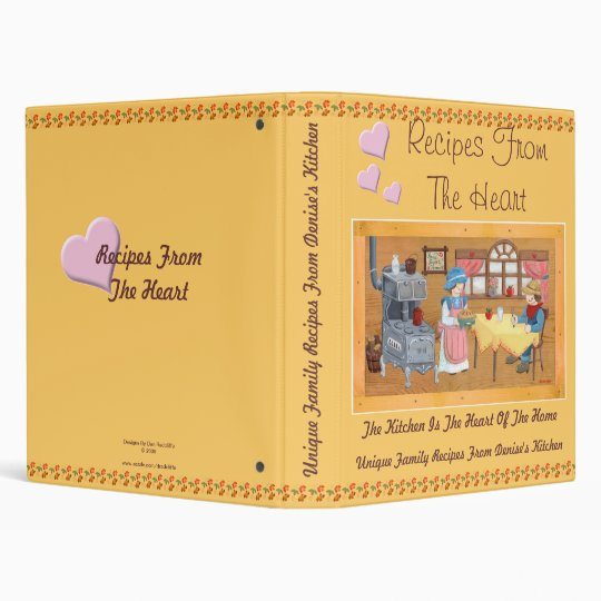 """Recipes From The Heart 1"""" Recipe Binder"""