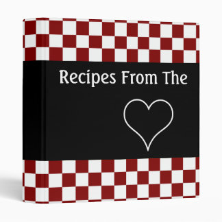 Recipes From The Heart Checkerboard Cookbook 3 Ring Binder