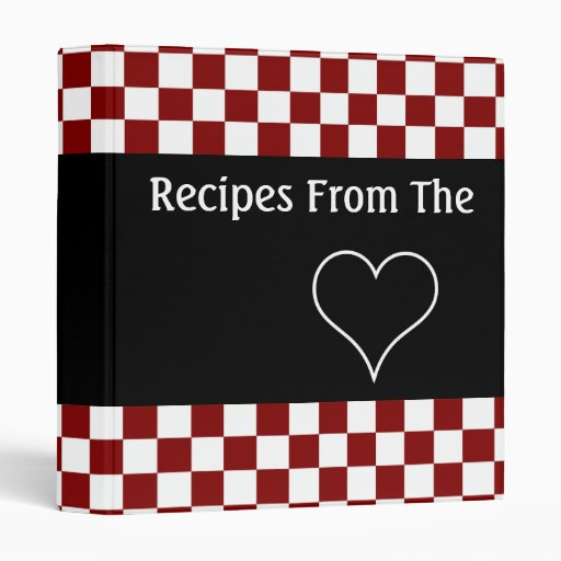 Recipes From The Heart Checkerboard Cookbook Binder