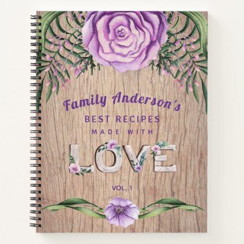 RECIPES - Gift For Family Grandma Mother Custom Notebook