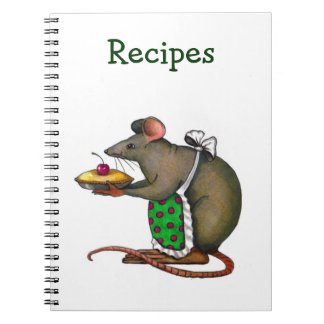 Recipes: Mama Rat Holding A Pie With Cherry Notebooks