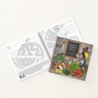 Recipes Notebook with your Name on it