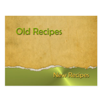 Recipes Old and New Postcard