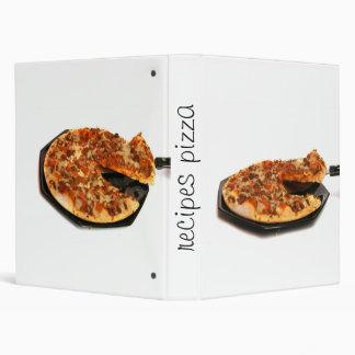 recipes pizza 3 ring binder
