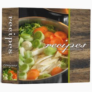 recipes (soup) 3 ring binder