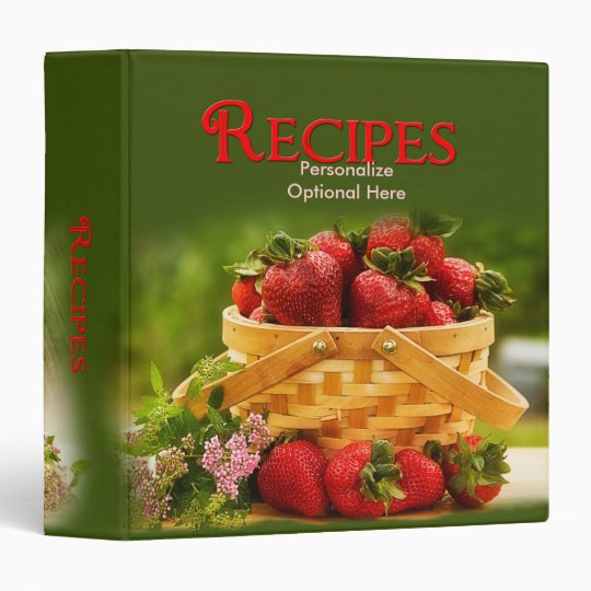 Recipes Strawberries Binder
