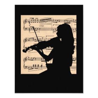 Recital 4.25 x 5.5 size 4.25x5.5 paper invitation card