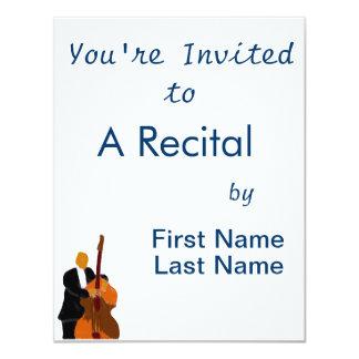 """Recital Invitation, Concert Invite 2 4.25"""" X 5.5"""" Invitation Card"""