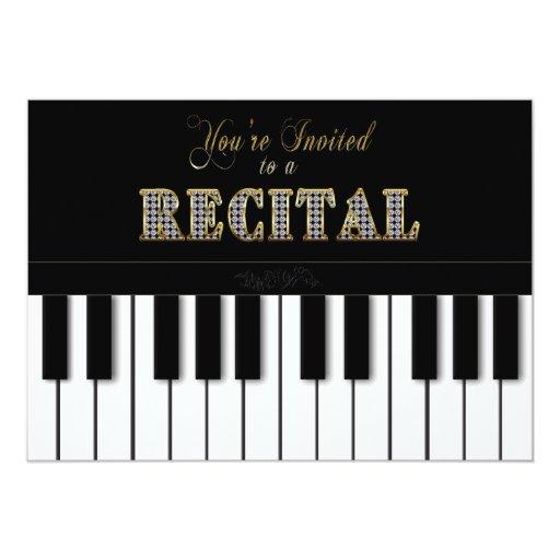 RECITAL - YOU'RE INVITED - INVITATION - PIANO