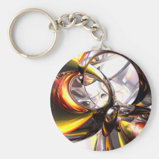 Reckless Defiance Abstract Keychain