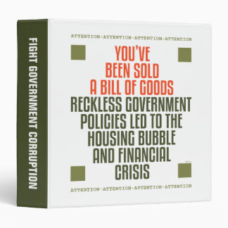 Reckless Government Policies 3 Ring Binder