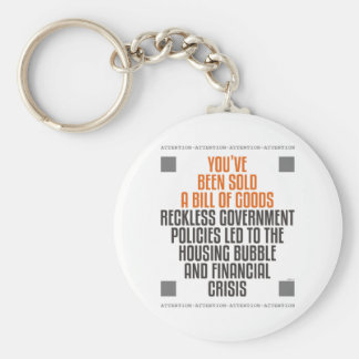 Reckless Government Policies Basic Round Button Keychain