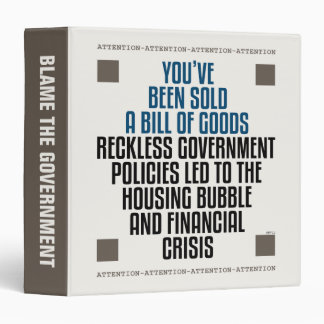 Reckless Government Policies Binder