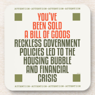 Reckless Government Policies Drink Coaster