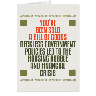 Reckless Government Policies Greeting Card