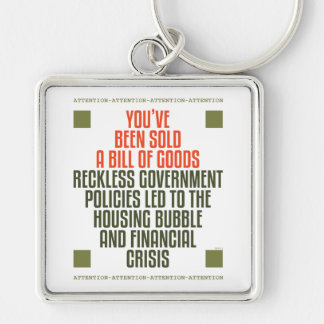 Reckless Government Policies Key Chains