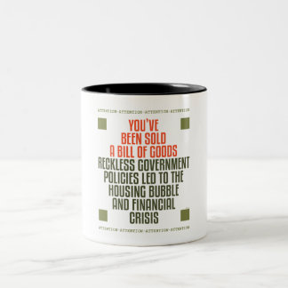 Reckless Government Policies Two-Tone Coffee Mug