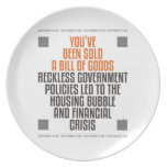 Reckless Government Policies Plate