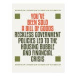 Reckless Government Policies Post Cards