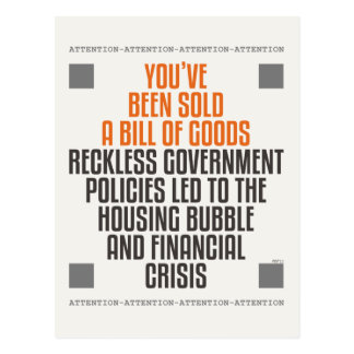 Reckless Government Policies Postcard