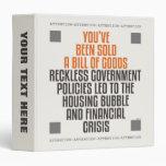 Reckless Government Policies Vinyl Binders