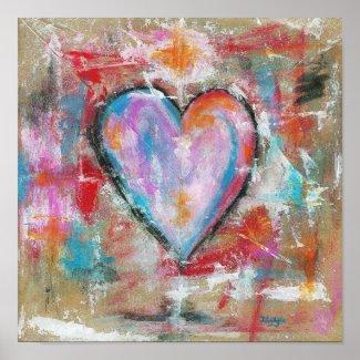 Reckless Heart Original Art Painting Poster print